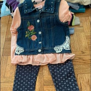 3PC denim outfit
